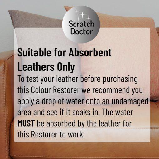 leather colour restorer absorbency test