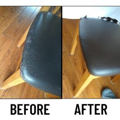 leather colour restorer before and after dining chair