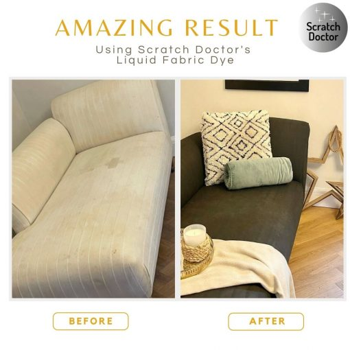 fabric dye before and after